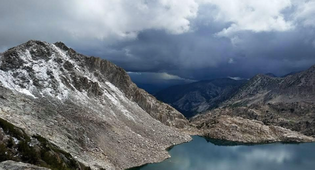 Approaching storm on the Sierra High Route this summer